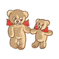 Bears embroidery design