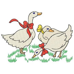 Holiday Geese embroidery design