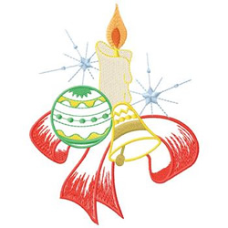 Candle With Bell embroidery design