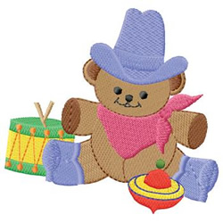 Teddy With Toys embroidery design
