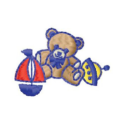 Teddy And Toys embroidery design