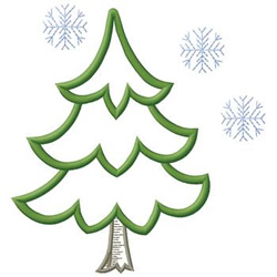 Pine Tree embroidery design