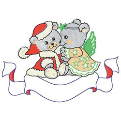 Christmas Bears embroidery design