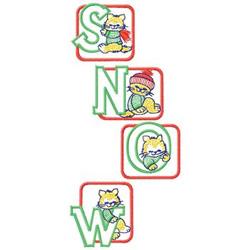Snow Blocks embroidery design
