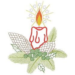 Candle Decoration embroidery design