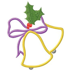 Bells And Holly embroidery design