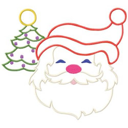 Santa And Tree embroidery design