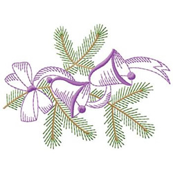 Bells And Branch embroidery design