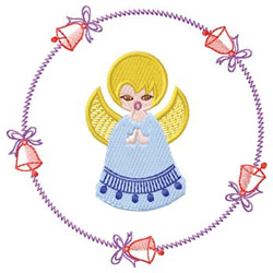 Angel With Bells embroidery design