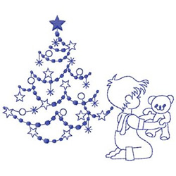 Boy And Tree embroidery design