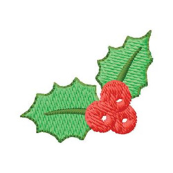 Holly embroidery design