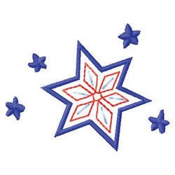 Snowflake And Stars embroidery design