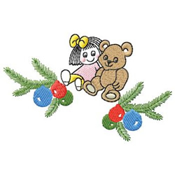 Doll And Bear embroidery design
