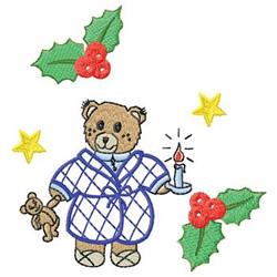 Christmas Bear embroidery design