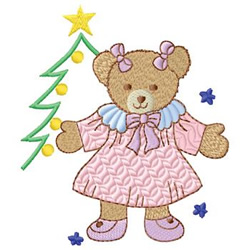 Girl Bear embroidery design