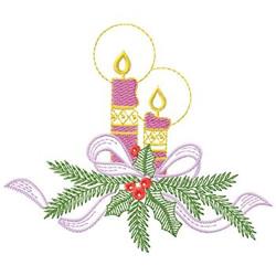 Candle Centerpiece embroidery design