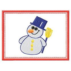 Snowman W/ Border embroidery design