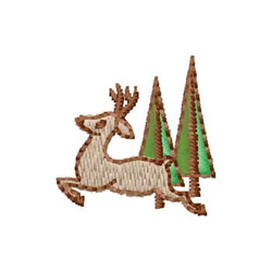 Deer With Trees embroidery design