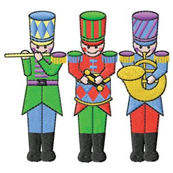 Toy Soldiers embroidery design