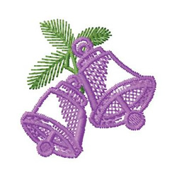 Bells And Pine embroidery design