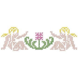 Angels And Flower embroidery design