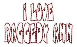 Love Raggedy Ann embroidery design