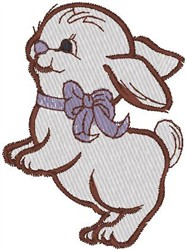 Happy Bunny embroidery design