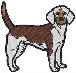 Beagle embroidery design