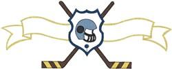Hockey Crest6 embroidery design