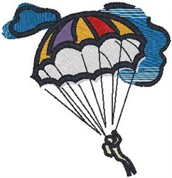 Parachuting embroidery design