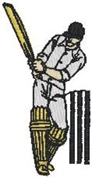 Cricket Player42 embroidery design