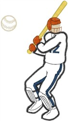 Cricket Player48 embroidery design