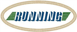 Running Patch embroidery design