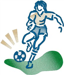 Soccer Player4 embroidery design