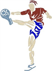 Soccer Player5 embroidery design