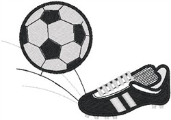 Soccer Ball and Shoe embroidery design