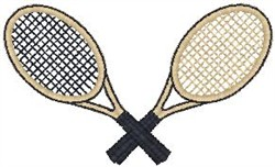 Tennis Rackets2 embroidery design