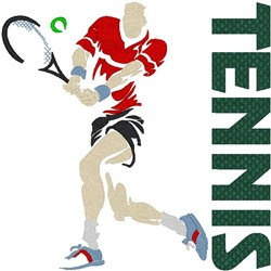 Tennis Text8 embroidery design