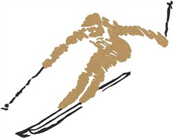 Skier5 embroidery design