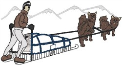 Dogsled Scene embroidery design
