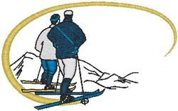 Ski Scene embroidery design