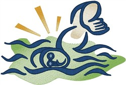 Swimmer2 embroidery design