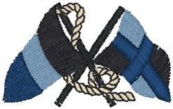 Nautical Flags embroidery design