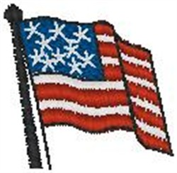 American Flag005 embroidery design