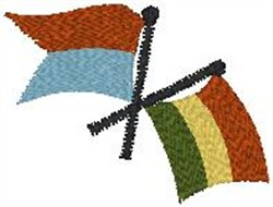 Two Flags embroidery design