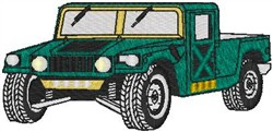 Hummer embroidery design