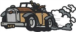 Roadster Accelerating embroidery design