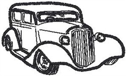 Antique Car17 embroidery design