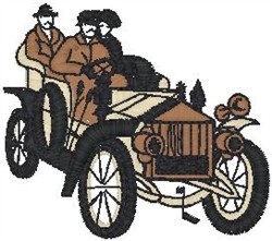 Antique Car19 embroidery design