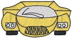 Yellow Drawn Sports embroidery design